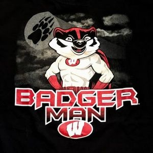 """University of Wisconsin Badgers """"Badger Man"""" Tee"""